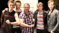 McFly join Chris Moyles in Derby