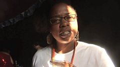Speech Debelle – Behind the scenes at Glastonbury 2009