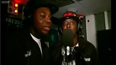 Dizzee Rascal and Sway performing a classic freestyle for Westwood