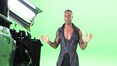 Blue's greenscreen shoot