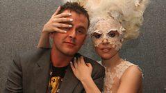 Lady Gaga backstage at the Brits 2010