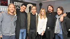 Fearne chats to the Foo Fighters
