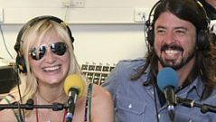 Jo Whiley on the phone to Dave Grohl