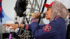 Wiz Khalifa talks to Westwood at Radio 1's Big Weekend