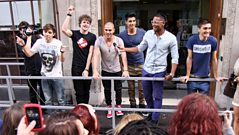 The Wanted celebrate Glad You Came hitting No.1