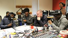 Maverick Sabre & Tinchy Styder create a track at school