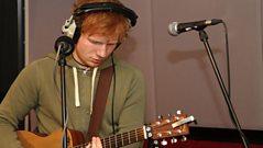 Ed Sheeran in the 1xtra Live Lounge
