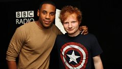 Ed Sheeran in the studio