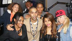 Lioness, Lady Leshurr, A Dot, Baby Blue and Flava D in the studio with Cameo