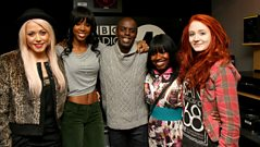 Kelly Rowland and her X Factor Girls