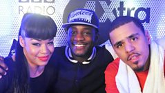 J Cole chats to Sarah-Jane Crawford and Twin B
