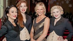 Jo Whiley meets the Puppini Sisters.