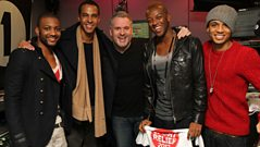 JLS play Chris Moyles their Sport Relief single