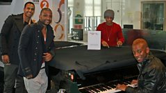 JLS in the studio with Steve Wright