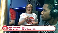 Usher encourages Beccy on the treadmill!!