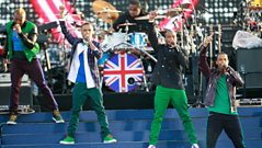 JLS perform a medley of hits