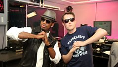 Ne-Yo learns some dance moves from Chris!