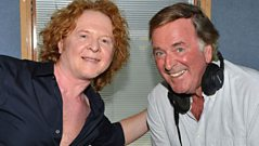 Mick Hucknall is backstage to talk with Sir Terry Wogan.