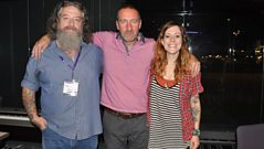 Wussy in the studio with Marc Riley