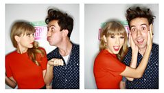 Taylor Swift catches up with Nick Grimshaw