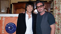 Ronnie Wood chats to Huey Morgan
