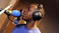 George the Poet in the Live Lounge