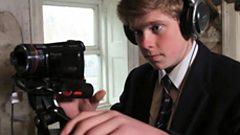 School pupil filming