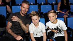 David, Cruz and Romeo Beckham