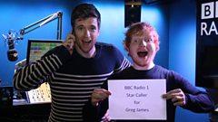 Ed Sheeran calls up one of his biggest fans in Star Caller!