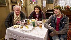 Robert Blythe as Fagin, Steve Meo as Hoffman and Oliver Wood as Charlie
