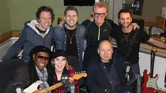 Nile Rodgers, Mark Knopfler and Lulu jam 'Le Freak' for Chris Evans