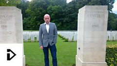 Man in WWI cemetery