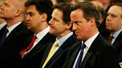 Ed Milliband, Nick Clegg and David Cameron