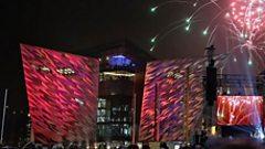 Fireworks at Titanic Slipways