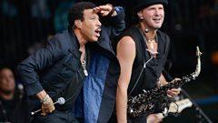 Lionel Richie performing at Glastonbury Festival