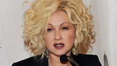 Cyndi Lauper is inducted in to the Singers' Hall of Fame
