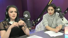 """""""Watching Britney Spears never made me want to take my clothes off!"""" - Maisie Williams & Charli XCX on women in music videos"""