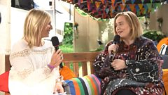 Adele talks to Jo Whiley before her Glastonbury set