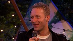 Chris Martin chats to Jo Whiley and Mark Radcliffe