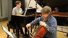 Mats Lidström and Leif Kaner-Lidström play Scriabin's Romance live on In Tune