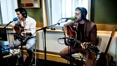 Last Shadow Puppets in session for Jo Whiley