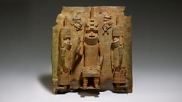 Image for Benin plaque - the Oba with Europeans