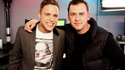 Image for Monday - Ed Westwick is good looking & Olly Murs spits out water