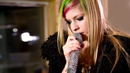Image for Tuesday: Avril Lavigne in the Live Lounge
