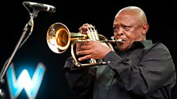 Image for Hugh Masekela and Seth Lakeman onstage at Charlton Park