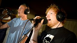 Image for Tuesday: Devlin and Ed Sheeran in the Live Lounge