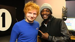 Image for Ed Sheeran and JLS in the studio!