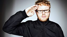 Image for Thursday: Huw Stephens sits in