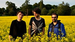 Image for Colin Greenwood, Jonny Greenwood and Adam Buxton sit in