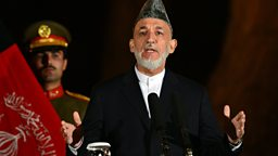 Image for President Karzai talks to Yalda Hakim